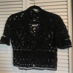 Stone Cold Fox Tops - Stone Cold Fox Black Lace Top